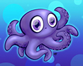 Cartoon Baby Octopus by Ellie of Inspiring Art